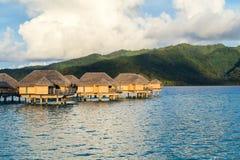 Luxury overwater villas Stock Photos