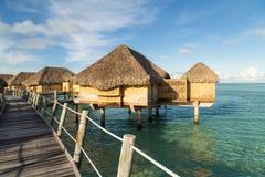 Luxury overwater villas Royalty Free Stock Images