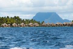 Luxury overwater villas Stock Photography