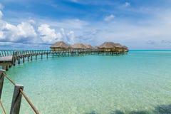 Luxury overwater villas Stock Image