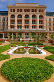 Luxury Palace Hotel in Europe with Beautiful Garden Stock Photography