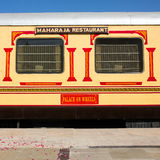 Luxury «Palace on Wheels» train in India Royalty Free Stock Image