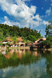 Luxury Paradise by the lake of Oriental Village. Langkawi, Malaysia - February 16, 2016: Oriental Village gateway to ride a cable-car up Mat Cingcang mountain Stock Photo