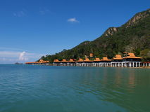 Luxury paradise by the sea. A luxury chalet resort by the sea Royalty Free Stock Photography