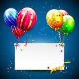 Luxury party balloons Stock Photo