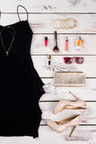 Luxury party essentials, front view. Royalty Free Stock Photo