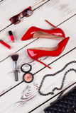 Luxury party essentials, top view. Stock Image
