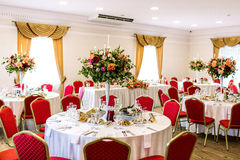 Luxury party hall Royalty Free Stock Photos