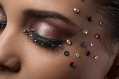 Luxury party makeup Stock Photos