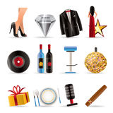 Luxury party and reception icons Stock Photography