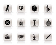Luxury party and reception icons Royalty Free Stock Photo