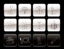 Luxury party and reception icons Stock Images