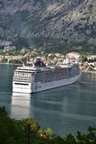 Luxury passenger ship MSC Magnifica leaving the port stock photography