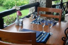 Luxury Patio Table Wine Tasting Royalty Free Stock Images