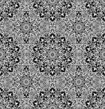 Luxury Pattern Boho Flower Black White. Blue pattern. Seamless flower background. Flourish vector. Intricate floral ornament. Black white illustration Royalty Free Stock Photos