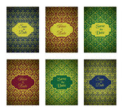 Luxury Pattern Cards Royalty Free Stock Photography