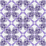 Luxury pattern with elegant Spanish motifs. Luxury vector seamless pattern in bright purple, with thin delicate elegant lines and Spanish motifs, rich ornamental Royalty Free Stock Photography