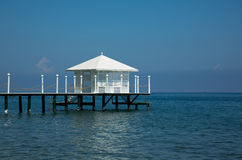 Luxury pavilion on a private pier Stock Images