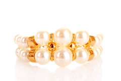 Luxury pearl bracelet Royalty Free Stock Photography