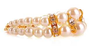 Luxury pearl bracelet Royalty Free Stock Photos