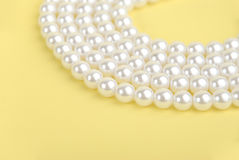 Luxury pearl necklace royalty free stock photo