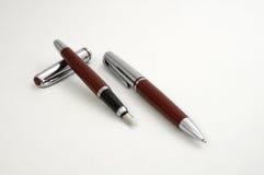 Luxury pen set. Luxury business pens on white background Stock Images