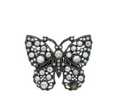 Luxury pendant butterfly with diamonds Royalty Free Stock Photography