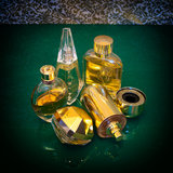 Luxury perfume bottles Stock Image