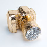 Luxury Photo Camera (Made Of Gold And Diamond) Stock Photography