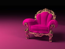 Luxury pink armchair Royalty Free Stock Images