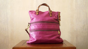 Luxury Pink Bag On a Table Stock Photos