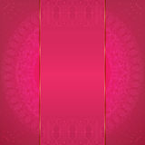 Luxury pink card Stock Photography