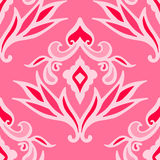 Luxury pink damask seamless pattern Royalty Free Stock Images