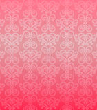 Luxury pink ornamental pattern. On a pink background Royalty Free Stock Images
