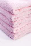 Luxury pink towels Royalty Free Stock Images