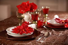 Luxury place setting Royalty Free Stock Images