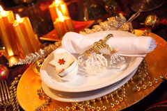 Luxury place setting Stock Images