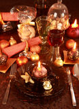Luxury place setting for Christmas Royalty Free Stock Photography