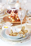 Luxury place setting for Christmas Stock Photography