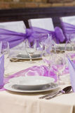 Luxury place setting Royalty Free Stock Photo