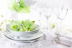 Luxury place setting for wedding Stock Photography