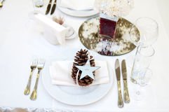 Luxury place setting for wedding Royalty Free Stock Images