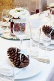 Luxury place setting for wedding Stock Photo