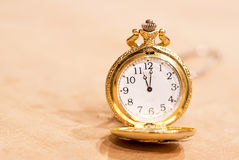 Luxury pocket clock Stock Photo