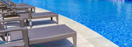Luxury pool in a hotel, resort leisure time, Royalty Free Stock Photography