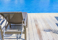 Luxury pool in a hotel, resort leisure time, relaxing near the p Stock Photography
