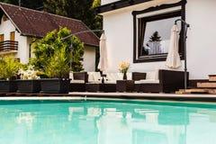 Luxury pool lounge Royalty Free Stock Images