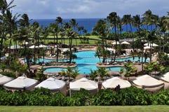 Luxury pool. Luxury resort in maui island hawaii Stock Photography