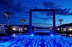 Luxury pool sunset Royalty Free Stock Photos