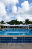 Luxury Pool in Tropical Setting Royalty Free Stock Image